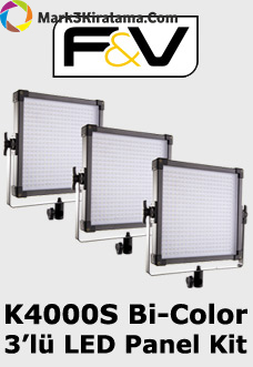 F&V K4000S Bi-Color 3'lü LED Panel Işık Seti Image